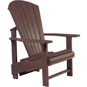 "Generations Upright Adirondack Chair, Chocolate, 27""L x 31""W x 44""H"