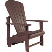 "Generations Upright Adirondack Chair, Chocolate, 27""L x 31""W x 44""H"