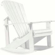 "Generations Adirondack Rocking Chair, White, 34""L x 24""W x 40""H"