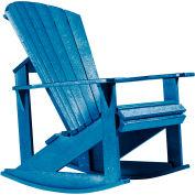 "Generations Adirondack Rocking Chair, Blue, 34""L x 24""W x 40""H"