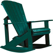 """Generations Adirondack Rocking Chair, Green, 34""""L x 24""""W x 40""""H"""