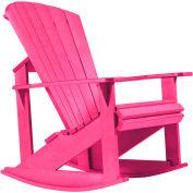 "Generations Adirondack Rocking Chair, Fuchsia, 34""L x 24""W x 40""H"
