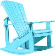 """Generations Adirondack Rocking Chair, Aqua, 34""""L x 24""""W x 40""""H"""