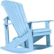 "Generations Adirondack Rocking Chair, Sky Blue, 34""L x 24""W x 40""H"