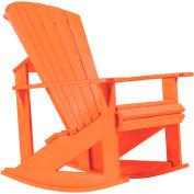 "Generations Adirondack Rocking Chair, Orange, 34""L x 24""W x 40""H"