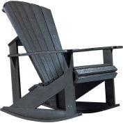 """Generations Adirondack Rocking Chair, Black, 34""""L x 24""""W x 40""""H"""
