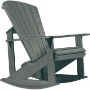"Generations Adirondack Rocking Chair, Slate, 34""L x 24""W x 40""H"