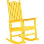 "Generations Casual Porch Rocker, Yellow, 31""L x 25""W x 47""H"