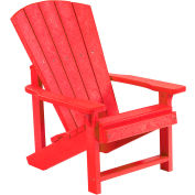 """Generations Kids Adirondack Chair, Red, 24""""L x 20""""W x 27""""H"""