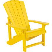 "Generations Kids Adirondack Chair, Yellow, 24""L x 20""W x 27""H"