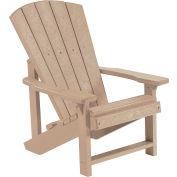 """Generations Kids Adirondack Chair, Beige, 24""""L x 20""""W x 27""""H"""