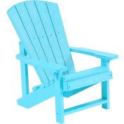 """Generations Kids Adirondack Chair, Aqua, 24""""L x 20""""W x 27""""H"""