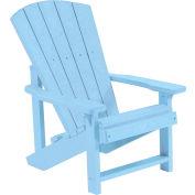 """Generations Kids Adirondack Chair, Sky Blue, 24""""L x 20""""W x 27""""H"""