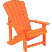 """Generations Kids Adirondack Chair, Orange, 24""""L x 20""""W x 27""""H"""