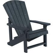 """Generations Kids Adirondack Chair, Black, 24""""L x 20""""W x 27""""H"""