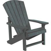"""Generations Kids Adirondack Chair, Slate, 24""""L x 20""""W x 27""""H"""