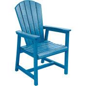 "Generations Arm Dining Adirondack Style Chair, Blue, 22""L x 22-1/2""W x 40""H"