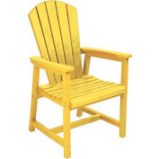 """Generations Arm Dining Adirondack Style Chair, Yellow, 22""""L x 22-1/2""""W x 40""""H"""