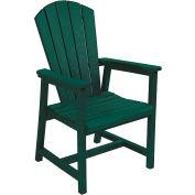 "Generations Arm Dining Adirondack Style Chair, Green, 22""L x 22-1/2""W x 40""H"