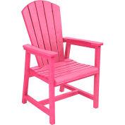 "Generations Arm Dining Adirondack Style Chair, Fuchsia, 22""L x 22-1/2""W x 40""H"