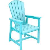 "Generations Arm Dining Adirondack Style Chair, Aqua, 22""L x 22-1/2""W x 40""H"