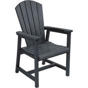 "Generations Arm Dining Adirondack Style Chair, Black, 22""L x 22-1/2""W x 40""H"