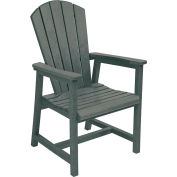 "Generations Arm Dining Adirondack Style Chair, Slate, 22""L x 22-1/2""W x 40""H"