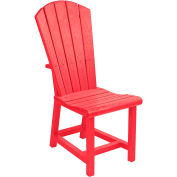 "Generations Dining Adirondack Style Side Chair, Red, 19""L x 17""W x 40""H"