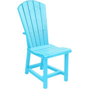 "Generations Dining Adirondack Style Side Chair, Aqua, 19""L x 17""W x 40""H"
