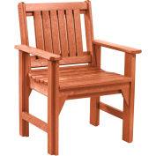 "Generations Dining Slat Back Style Arm Chair, Cedar, 21""L x 25""W x 36""H"