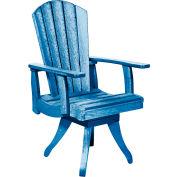 "Generations Dining Arm Swivel Chair, Blue, 18""L x 18""W x 39""H"