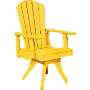 "Generations Dining Arm Swivel Chair, Yellow, 18""L x 18""W x 39""H"