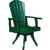 "Generations Dining Arm Swivel Chair, Green, 18""L x 18""W x 39""H"