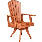 "Generations Dining Arm Swivel Chair, Cedar, 18""L x 18""W x 39""H"