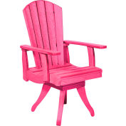 """Generations Dining Arm Swivel Chair, Fuchsia, 18""""L x 18""""W x 39""""H"""