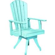"""Generations Dining Arm Swivel Chair, Aqua, 18""""L x 18""""W x 39""""H"""