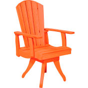 "Generations Dining Arm Swivel Chair, Orange, 18""L x 18""W x 39""H"