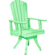 """Generations Dining Arm Swivel Chair, Lime Green, 18""""L x 18""""W x 39""""H"""