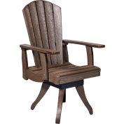 "Generations Dining Arm Swivel Chair, Chocolate, 18""L x 18""W x 39""H"