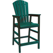 "Generations Dining Adirondack Style Pub Arm Chair, Green, 18""L x 18""W x 48""H"