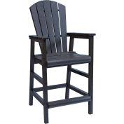 "Generations Dining Adirondack Style Pub Arm Chair, Black, 18""L x 18""W x 48""H"