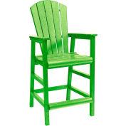 "Generations Dining Adirondack Style Pub Arm Chair, Kiwi Lime, 18""L x 18""W x 48""H"