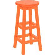 "Generations Dining Pub Style Barstool, Orange, 14""L x 14""W x 30""H"