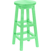 "Generations Dining Pub Style Barstool, Lime Green, 14""L x 14""W x 30""H"