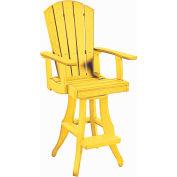 """Generations Swivel Arm Pub Chair, Yellow, 18""""L x 18""""W x 48""""H"""