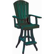 """Generations Swivel Arm Pub Chair, Green, 18""""L x 18""""W x 48""""H"""