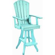 """Generations Swivel Arm Pub Chair, Aqua, 18""""L x 18""""W x 48""""H"""