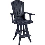 """Generations Swivel Arm Pub Chair, Black, 18""""L x 18""""W x 48""""H"""