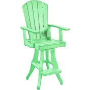 """Generations Swivel Arm Pub Chair, Lime Green, 18""""L x 18""""W x 48""""H"""
