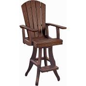 "Generations Swivel Arm Pub Chair, Chocolate, 18""L x 18""W x 48""H"